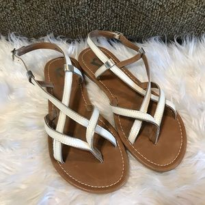 Report NEW Beet Strappy Sandals 6.5